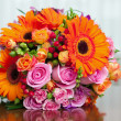 Beautiful bridal bouquet at a wedding party — Foto de Stock