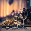 Table wine glasses for wine — Stock Photo #33091245