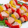 Shish kebab from fish on a stick — Stock Photo #33092113