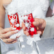 Champagne on wedding — Stock Photo