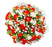 Beautiful bridal bouquet at a wedding party,bunch of flowers. is — Stock Photo