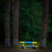 Bench for a stay in the old park — Stock Photo