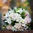 Beautiful bridal bouquet at wedding party — Stock Photo #36892279