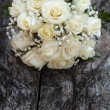 Beautiful bridal bouquet at wedding party — Stock Photo #36894133