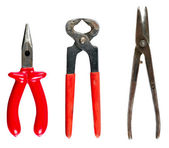 Set tools for house repair. Are isolated on a white background  — Stock Photo