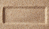 Frame of a layer of sand. — Stock Photo