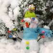 Funny snow men — Stock Photo