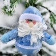 Ded Moroz in winter forest - Stock Photo
