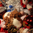 Stock Photo: Mix of Christmas decoration