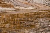 Mamut hot springs sarı taş teras — Stok fotoğraf