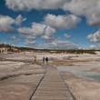 Norris geyser basin in Yellowstone — Stock Photo