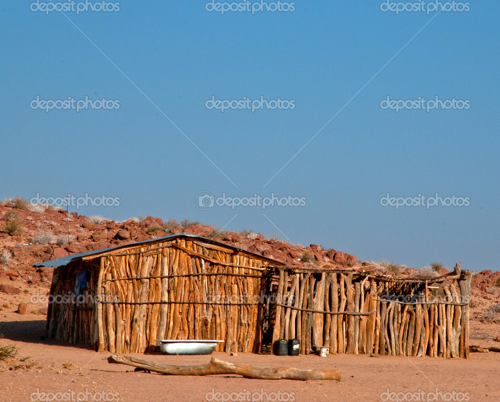 Traditional House Of Damara Tribe People Stock Photo