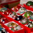 Hand painted christmas ball — Stock Photo