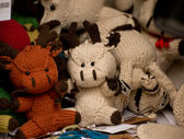 Knitted cow toys — Stock Photo