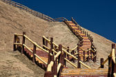 Stairs up to the top of the hill — Stockfoto