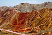 Colorful mountains, Zhangye danxia, China — Stock Photo