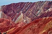 Colors of the mountains, Zhangye danxia, China — Stock Photo