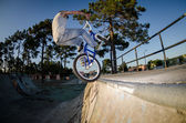 BMX Bike Stunt tap — Stock Photo