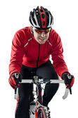Cyclist riding a bike — Stock Photo