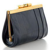Black Leather Purse — Stockfoto