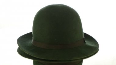 Green vintage hat — Stock Video #12854774