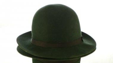 Green vintage hat — Stock Video #12854774