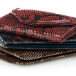 Stack of leather wallets — Stock Photo