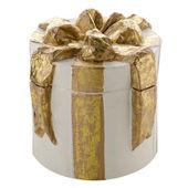 Scatola regalo bianca decorativi natale — Foto Stock