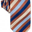 Brown and blue pattern tie - Stock Photo