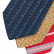 Closeup of three ties - Stock Photo