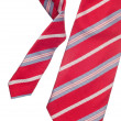 Red pattern tie — Stock Photo