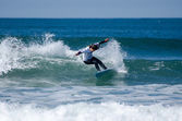Surfer during the 4th stage of MEO Figueira Pro — Stock Photo