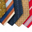 Closeup of five ties — Foto de Stock