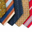 Closeup of five ties — Photo