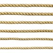 Seamless golden rope - Stock Photo