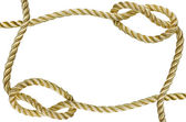 Decorative frame from a golden rope — Stock Photo