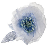 Blue fabric flower — Stock Photo