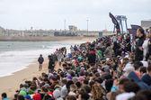 толпа на пляже — Стоковое фото