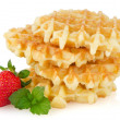 Waffles and strawberry — Lizenzfreies Foto