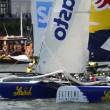 Red Bull Sailing Team compete in the Extreme Sailing Series — Stock Video
