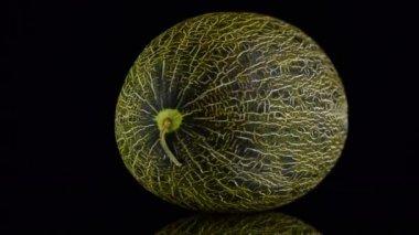 Green melon rotating — Stock video