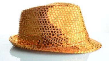 Cappello arancione paillette — Video Stock