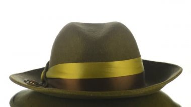 Green vintage hat — Stock Video #13977514