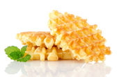 Кучу сладких вафель — Стоковое фото