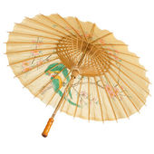 Oriental umbrella isolated — Stock Photo