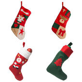 Christmas red stockings — Stock Photo
