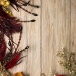 Christmas decorations frame — Foto de Stock