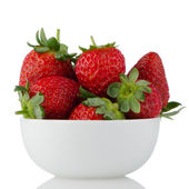 Fresh strawberries in bowl — Stock Photo