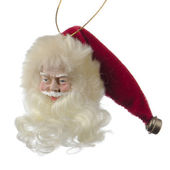 Santa Claus doll head — 图库照片
