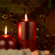 Christmas candles — Stock Video #14884461
